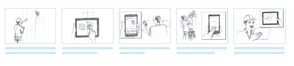 illustrations in a storyboard